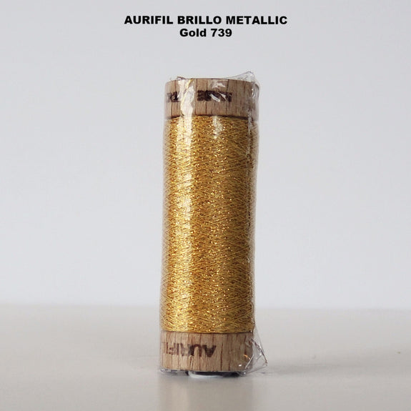 Aurifil Brillo Metallic Thread  Gold 739