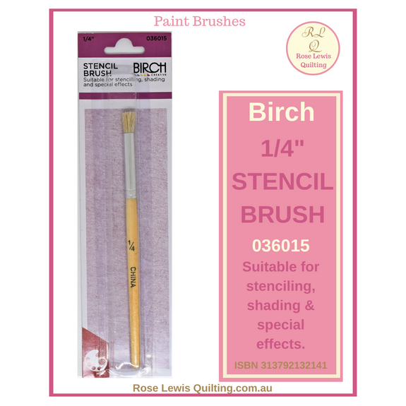 "Birch Stencil Brush 1/4"" 036015"