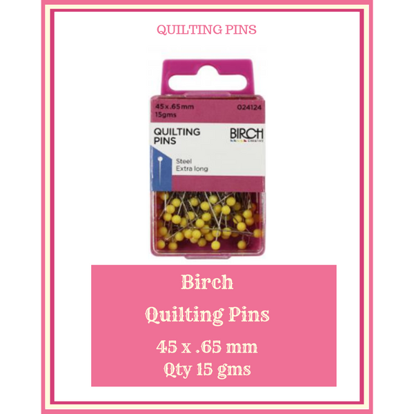 Birch Quilting Pins 45 x .65 mm 15 gms