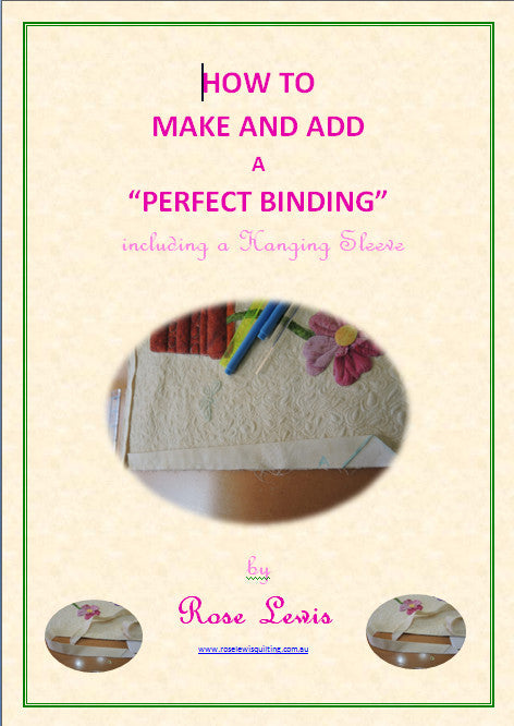 "How to Make and Add a ""Perfect Binding"" including a Hanging Sleeve e-book"