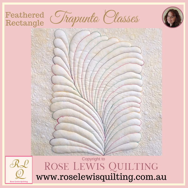 Trapunto Class - Feathered Rectangle