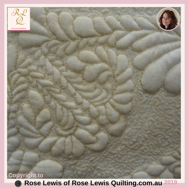 A Corner of Feather Delight Quilt-Trapunto - An Award Winning Quilt