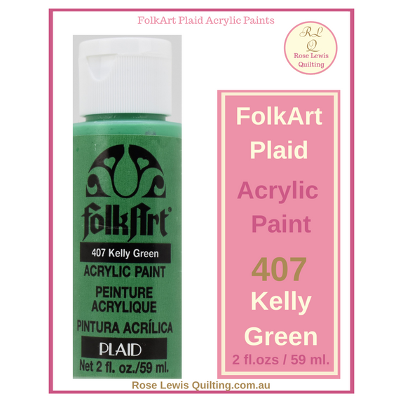 FolkArt Plaid Acrylic Paint 2 oz- 407 Kelly Green