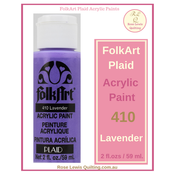 FolkArt Plaid Acrylic Paint 2 oz- 410 Lavender