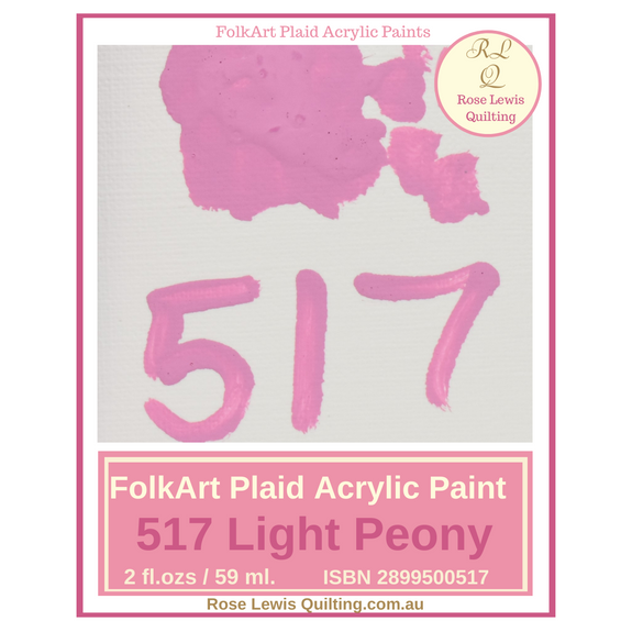 FolkArt Plaid Acrylic Paint 2 oz- 517 Light Peony