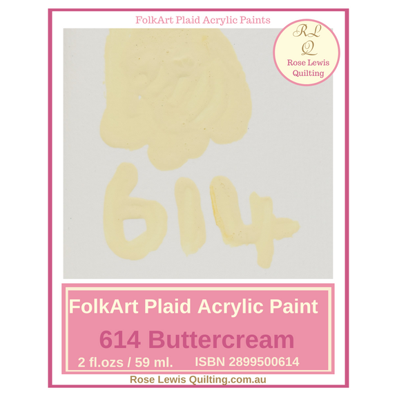 FolkArt Plaid Acrylic Paint 2 oz- 614 Buttercream