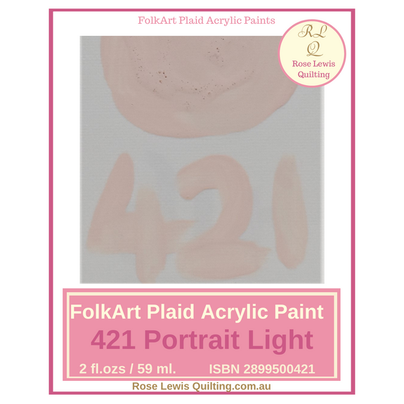 FolkArt Plaid acrylic paint 2 ozs - 421 Portrait Light
