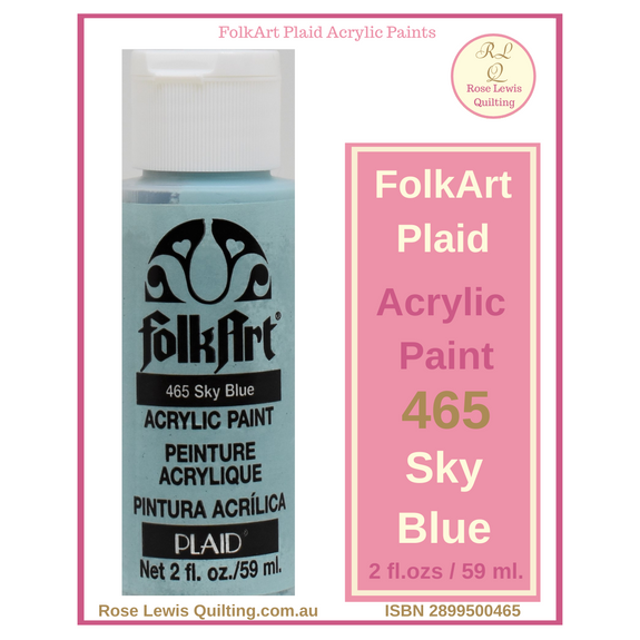 FolkArt Plaid Acrylic Paint 2 oz- 425 Sky Blue
