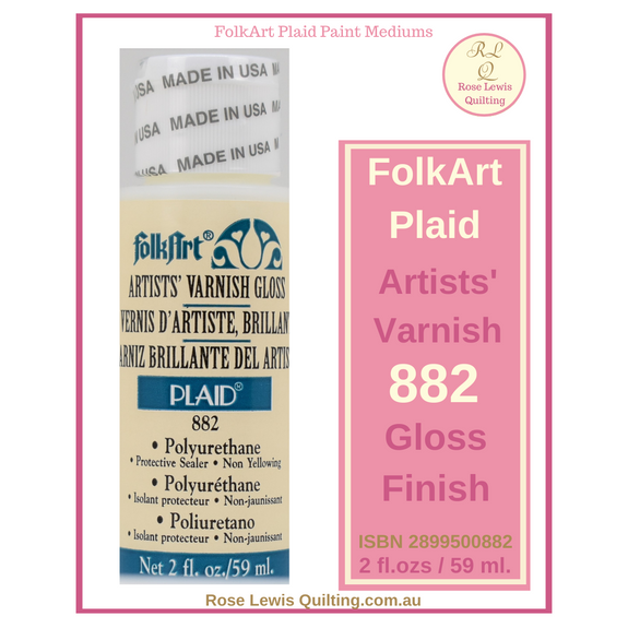 FolkArt Plaid Artist Varnish Gloss 882 2ozs