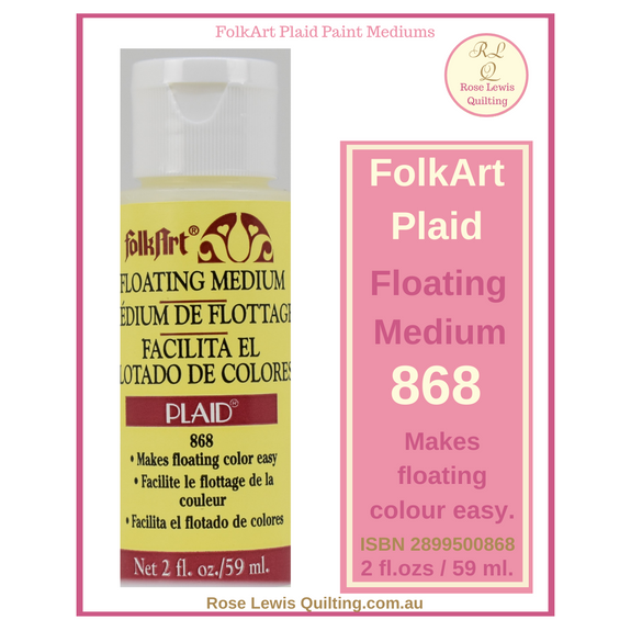 FolkArt Plaid Floating Medium 868 2 ozs