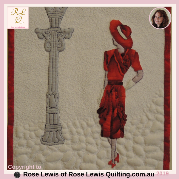 Applique & Trapunto - Lady in Red - An Award Winning Quilt