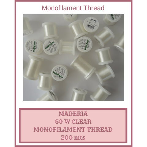 Monofilament Thread Maderia Clear 60W 200 mts