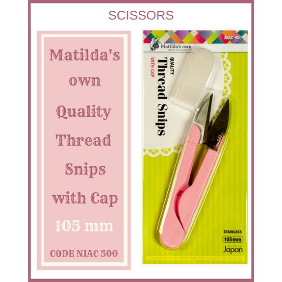 Matilda's Own thread Snips with Cap 105mm NIAC-500