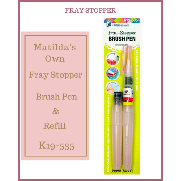 "Matilda""s Own Fray Stopper Brush Pen & Refill K19-535"