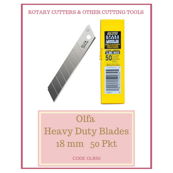 Olfa Heavy Duty 18 mm Blades OLB50 (50 per pkt)