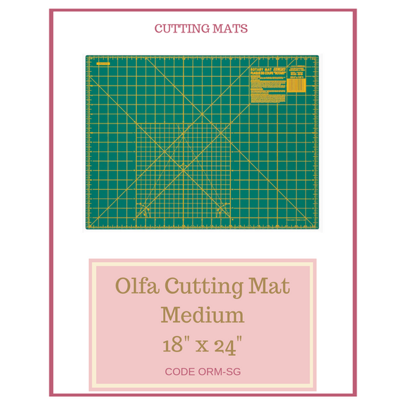 "Olfa Medium Cutting Mat 18"" x 24"" ORM-SG"