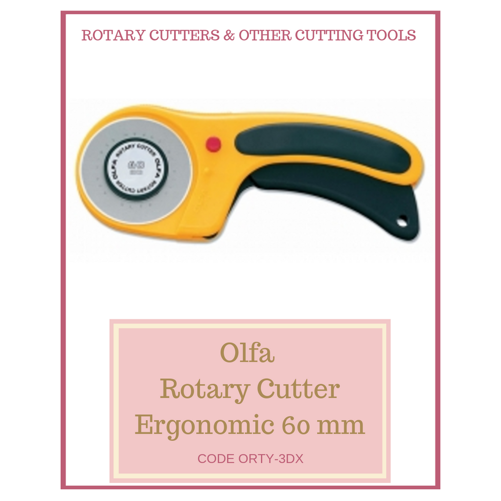 Olfa Rotary Cutter Ergonomic 60 mm ORTY-3DX