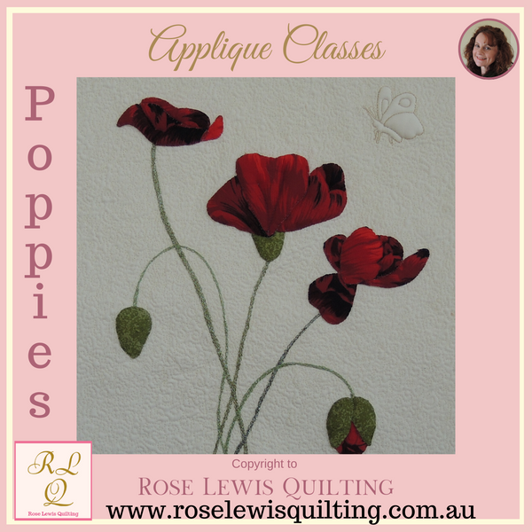 Applique Only Class - Poppies