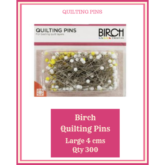Birch Quilting Pins 4 cms  Qty 300