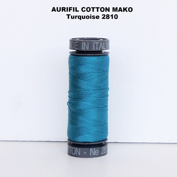 Aurifil Cotton Mako Thread Turquoise 2810