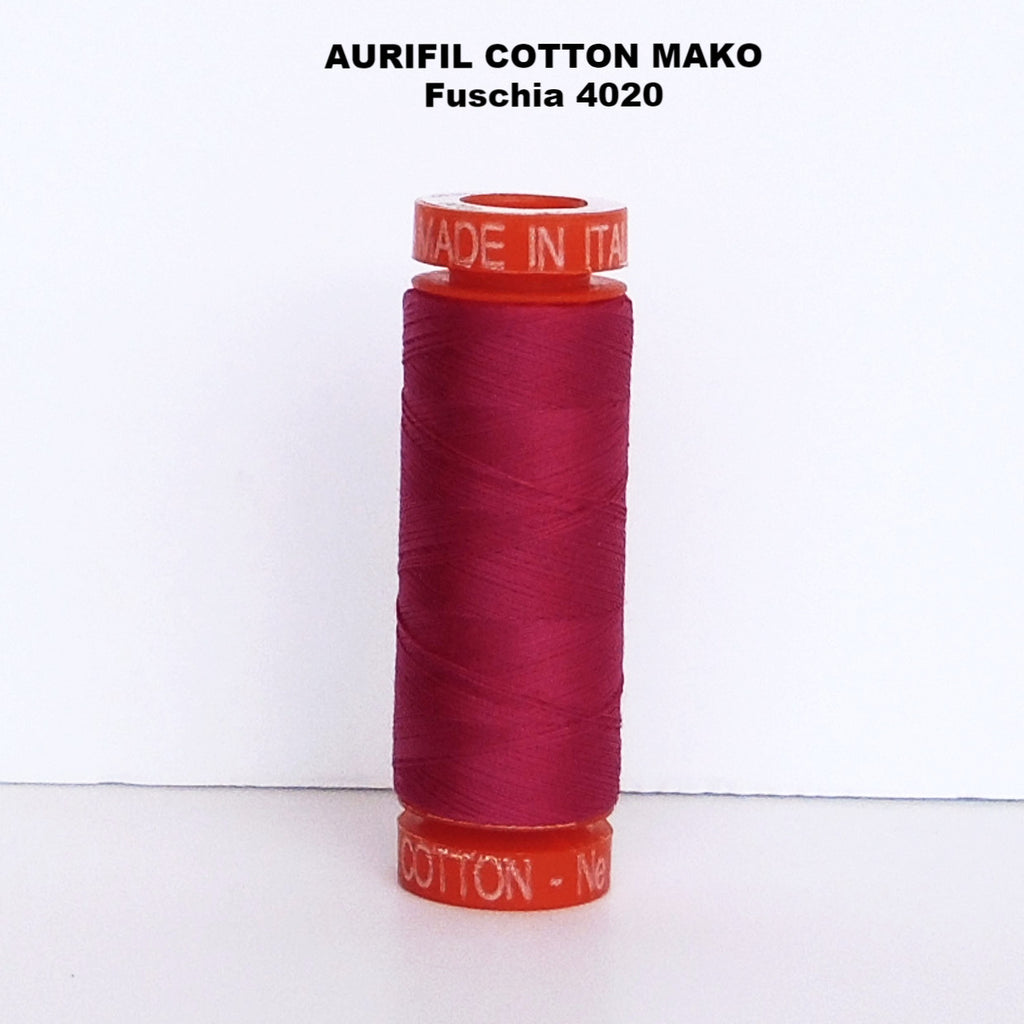 Aurifil Cotton Mako Thread Fuschia 4020