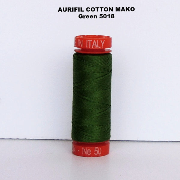Aurifil Cotton Mako Thread Green 5018