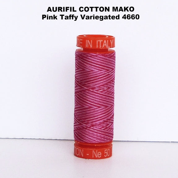Aurifil Cotton Mako Thread Variegated Pink Taffy 4660