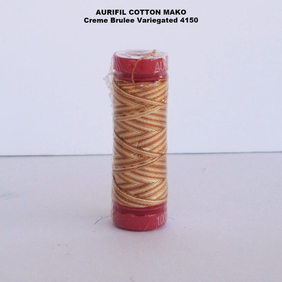 Aurifil Cotton Mako Thread Creme Brulee Variegated 4150