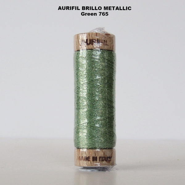 Aurifil Brillo Metallic Thread  Green 765