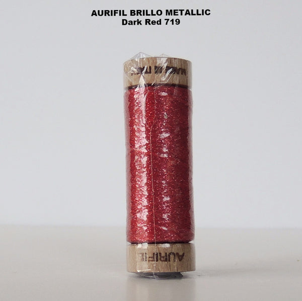 Aurifil Brillo Metallic Thread  Red 719