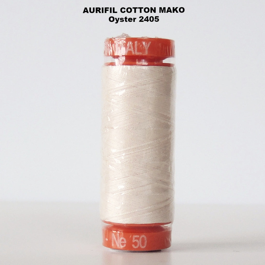 Aurifil Cotton Mako Thread  Oyster 2405