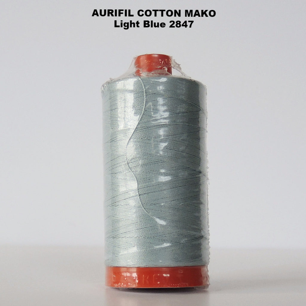 Aurifil Cotton Mako Thread  Light Blue 2847