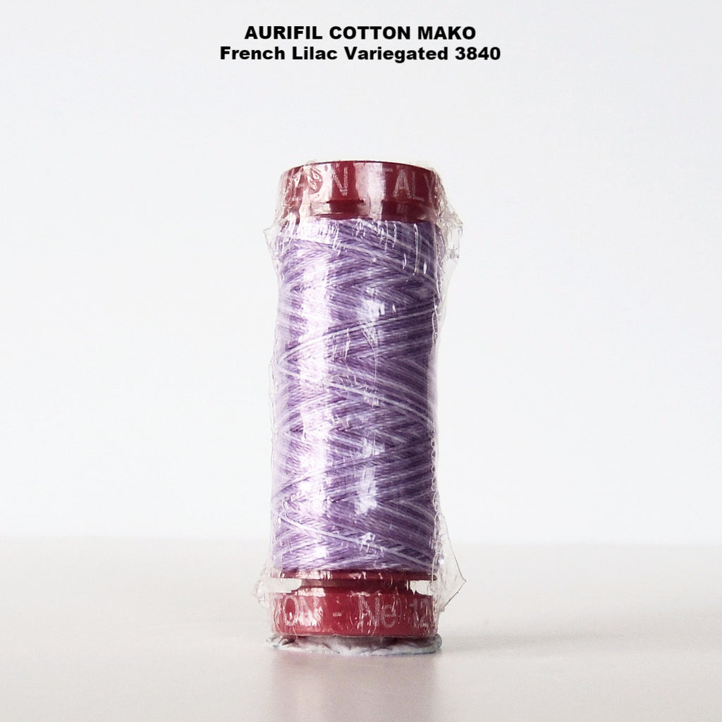 Aurifil Cotton Mako Thread Variegated French Lilac 3840