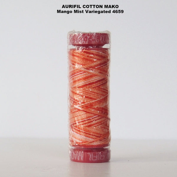 Aurifil cotton Mako Thread Variegated Mango Mist 4659