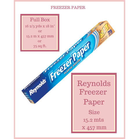 Freezer Paper Reynolds 15 mt x 45 cms