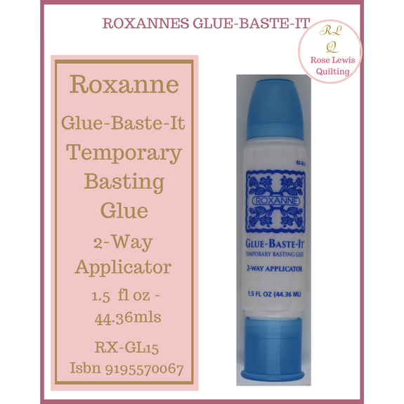 Roxanne Glue-Baste-It 2 Way Applicator Water Soluble Temporary Basting Glue 1.5 oz 44.36 oz RX-GL15  ISBN 9195570067