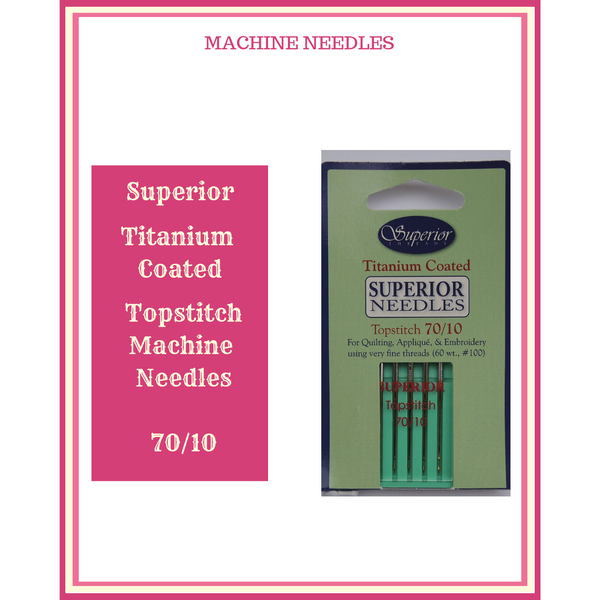 Superior Titanium Coated Topstitch Machine Needles 70/10