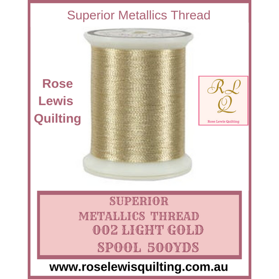 Superior Threads Metallics Light Gold 002 500 yds