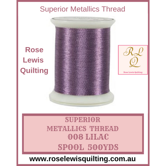 Superior Threads Metallics Lilac 008 500 yds