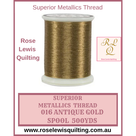 Superior Threads Metallics Antique Gold 016