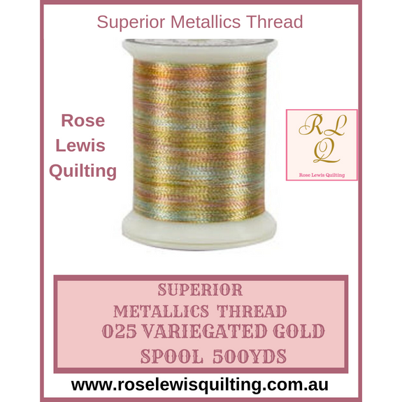 Superior Thread Metallics Variegated Gold 025 500yds