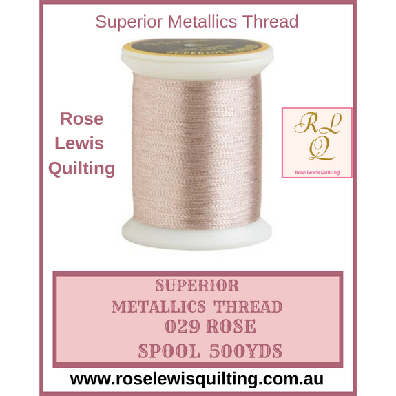 Superior Threads Metallics Rose 029 500 yds