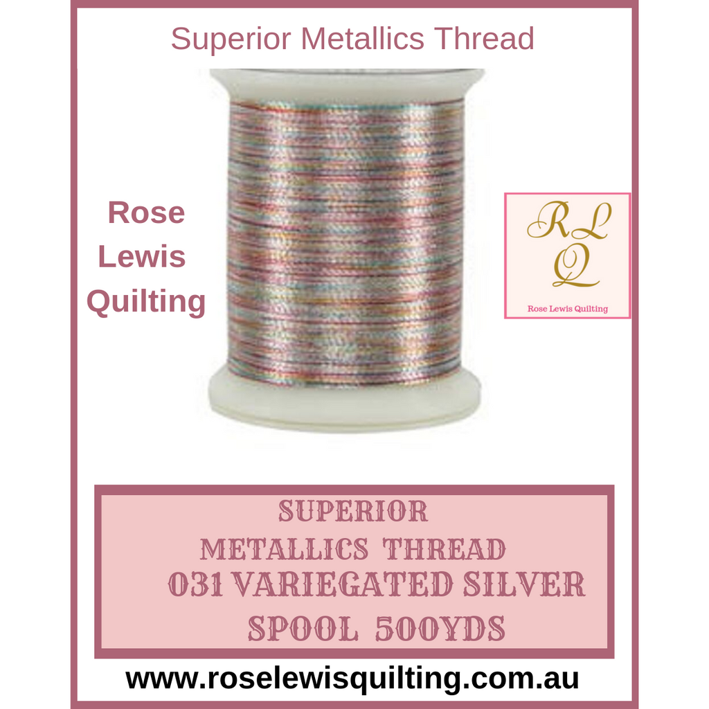 Superior Thread Metallics Variegated Silver 031 500yds