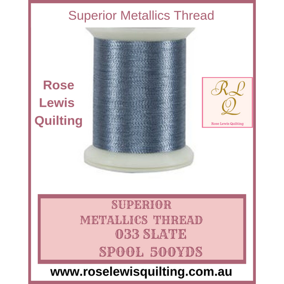 Superior Threads Metallics Slate 033 500 yds
