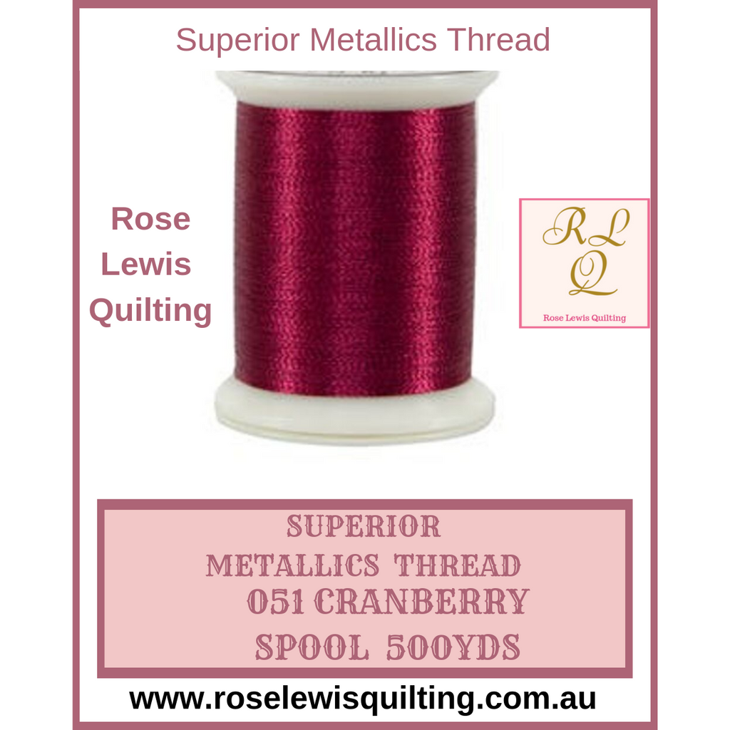 Superior Threads Metallics Cranberry 051 500 yds