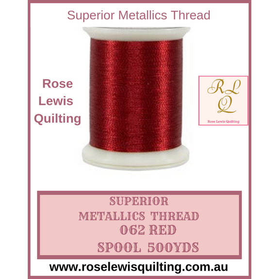 Superior Thread Metallics Red 062 500 yds