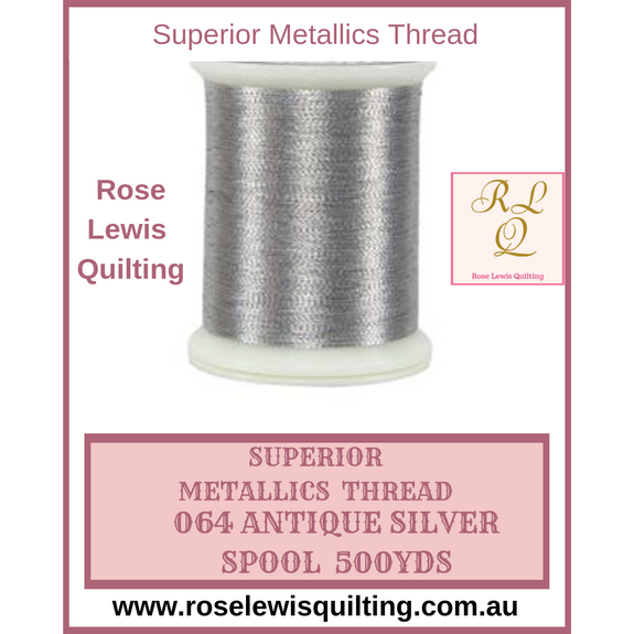 Superior Threads Metallics Antique Silver 064 500 yds
