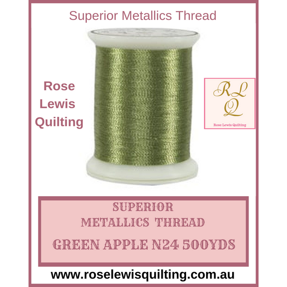 Superior Threads Metallics Green Apple 024 500 yds