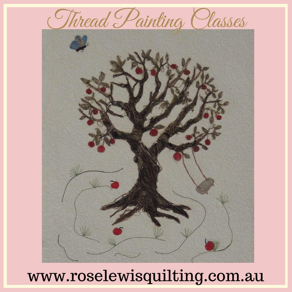 Thread Painting Class Down In the Apple Orchard