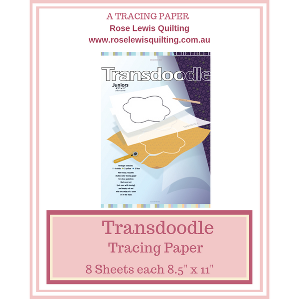 "Transdoodle Junior Transfer Paper 8.5"" x 11 Sheets"